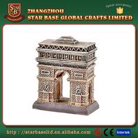 Custom made wholesales decorative polyresin triumphal arch miniature souvenir