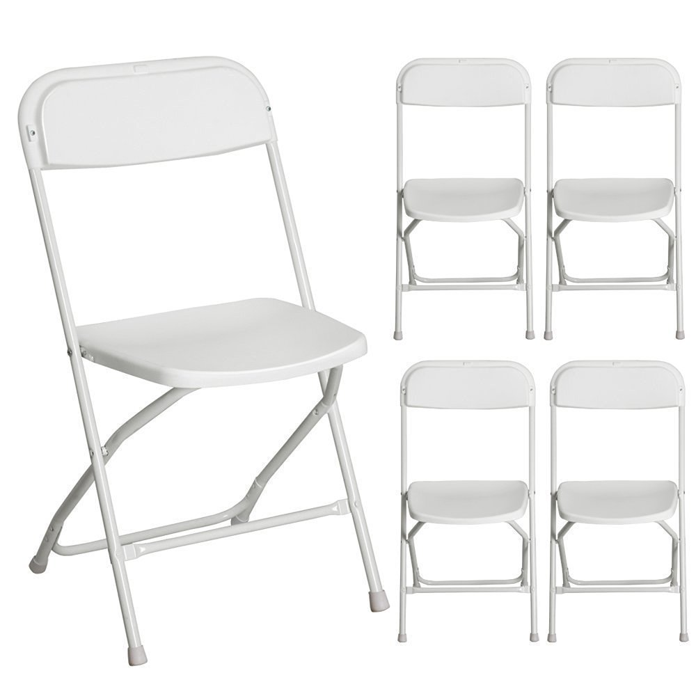 Get Quotations · Valuebox Set Of 5 Commercial Plastic Folding Chairs  Hercules Series Portable Stackable Wedding Party Event Chair