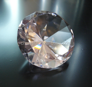 MH-9246 Glass pink Color Crystal Diamond Paperweights