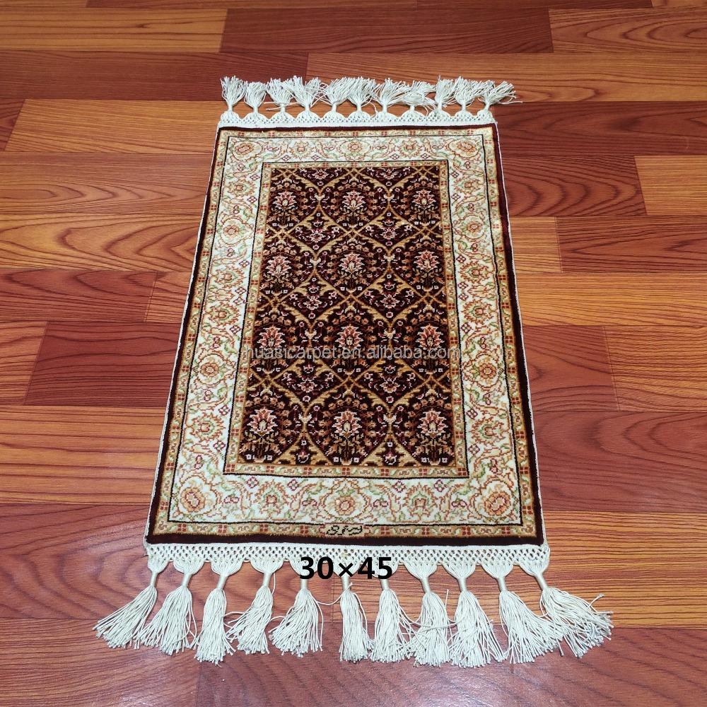 Rood kleine zijden tapijten handwoven vlakte stijl moskee gebed ...