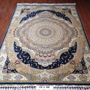 Henan carpet factory handmade oriental persian 100% silk rugs carpet for home decoration