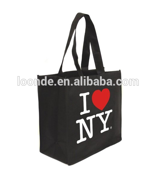 china custom black canvas souvenir bag