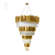 Modern luxury crystal drops pendant lighting 40-light chandelier & gold color finishing decorative lighting