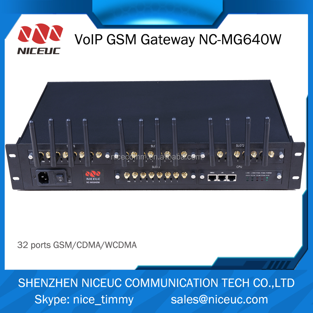 Carrier-grade voice quality 64 channels GSM VoIP gateway