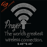 iron on wifi symbol rhinestone transfer applique for Shirt
