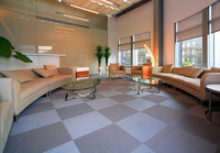 Carpet tile flooring with woven fabric design / Waterproof / Fire-resistance