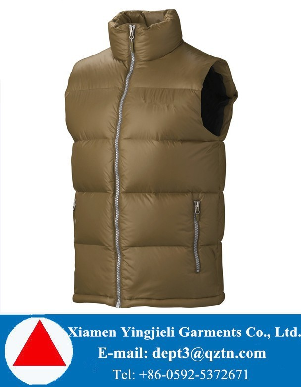 Fashion Stylish Warm Insulated Goose Down Vest Mens Down Vest