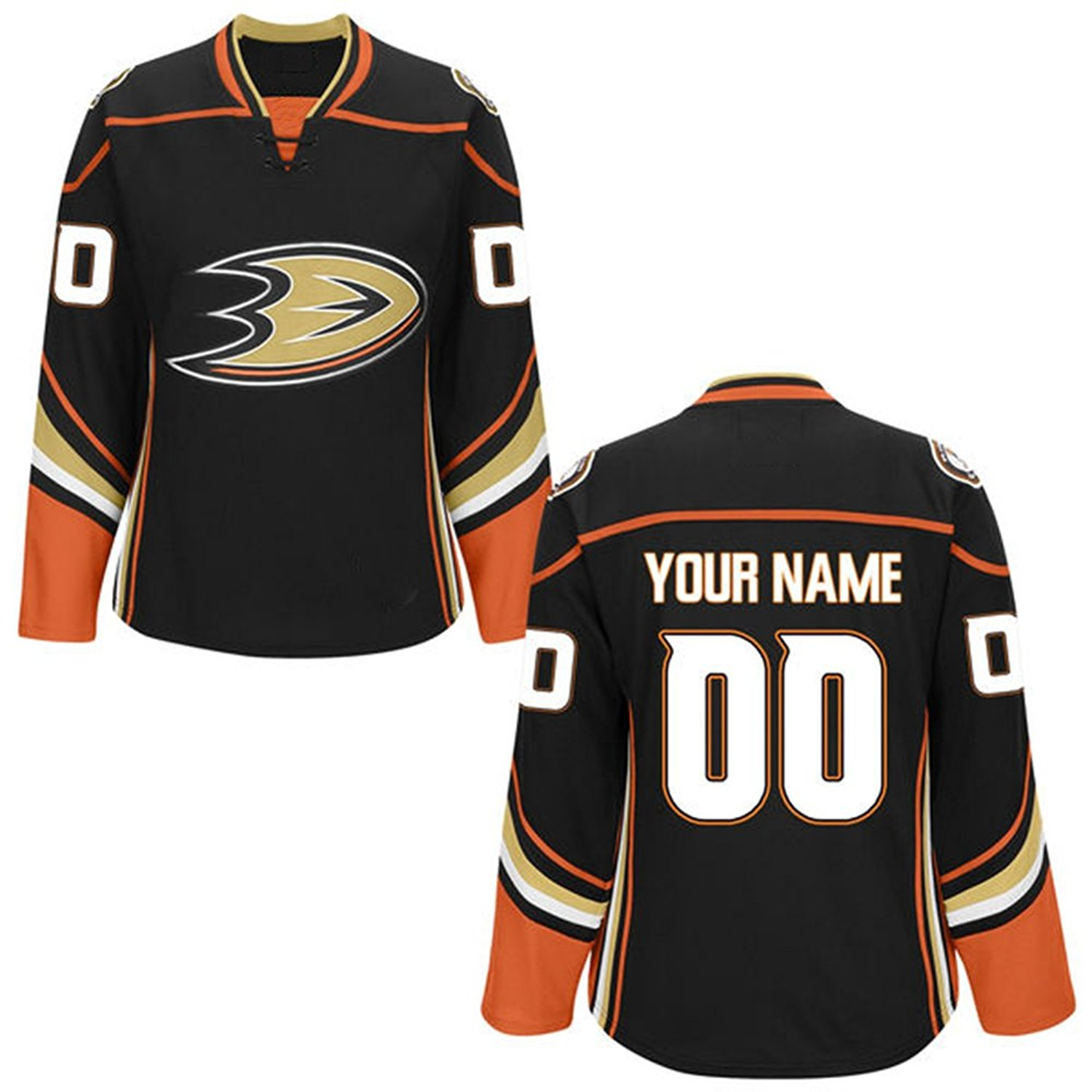 real get quotations womens custom anaheim ducks black premier home  customized ice hockey jersey size m adf5bfb34