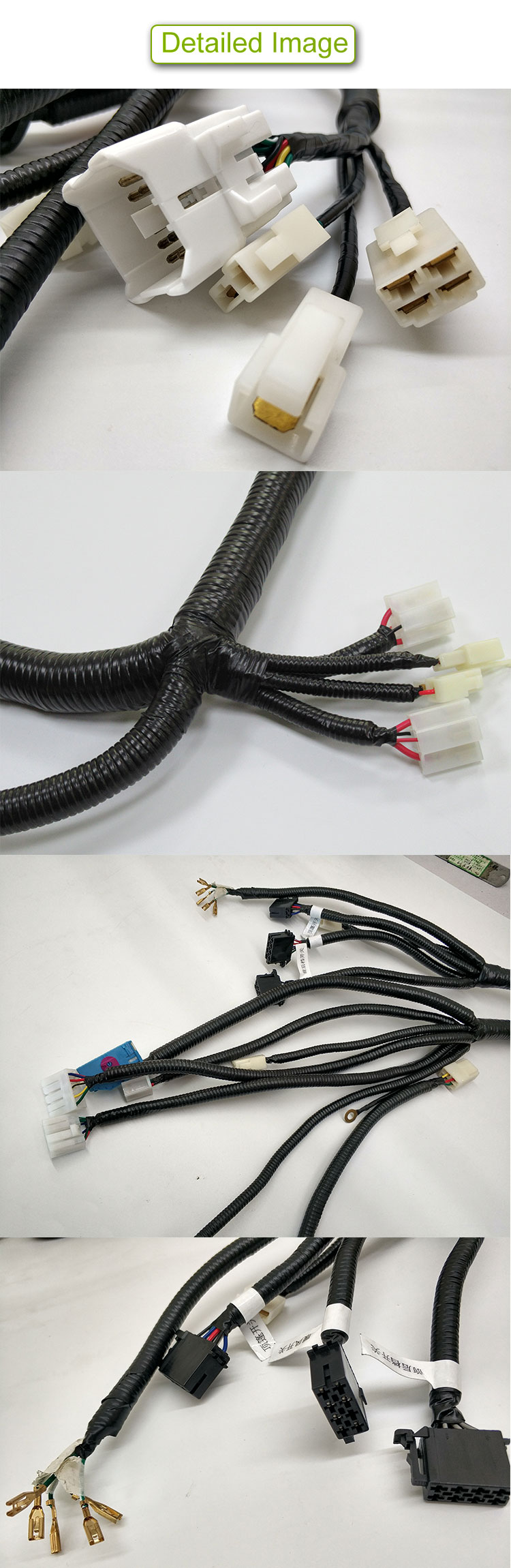 Custom copper sprical tube cable for new electric energy car +terminal+te waterproof connector