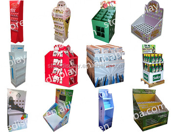 tablet display stand cardboard display riser for all purpose in supermarket