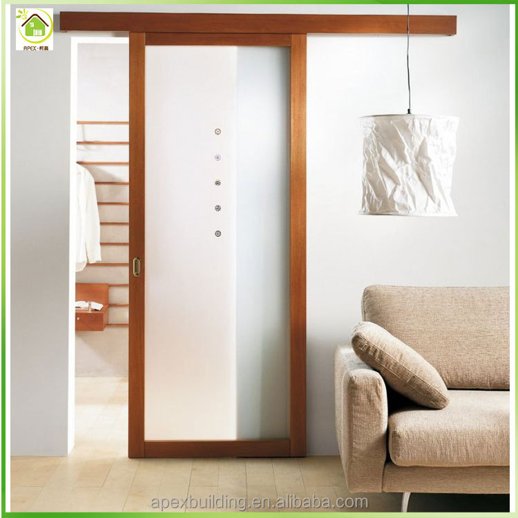 Three Wood Frame Panel Interior Wooden Sliding Glass Doors Buy