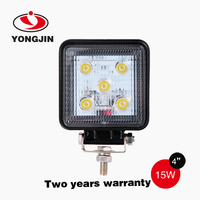 9-32v 15w Work Light Round Auto Led Work Light For Truck