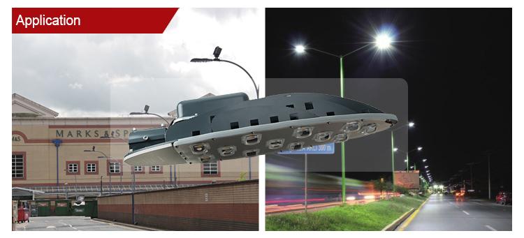 High efficiency waterproof aluminum cob ip65 road lamp 200watt