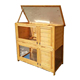 2 Storey Elevated Wooden Bunny Cage Rabbit Hutch