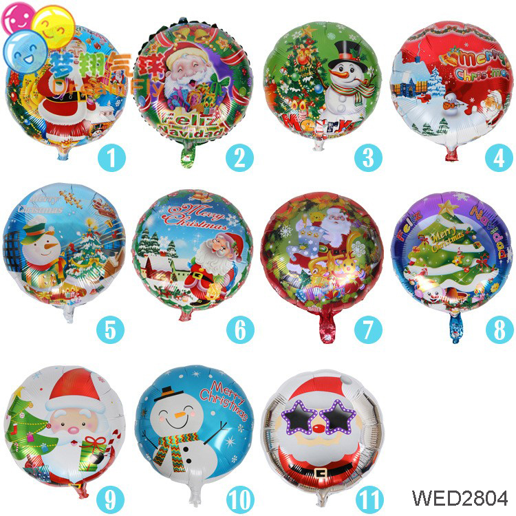 Christmas Decorations 18 inch Ball Filled with Hydrogen Air Bubbles Balloon