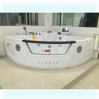 ABS board air bubble LED light computer controlled TV Whirlpool Massage Bathtub
