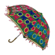 Fashion Handmade Design Cotton Multi Colored Bohemian Embroidery Parasol Indian Umbrellas for decoration