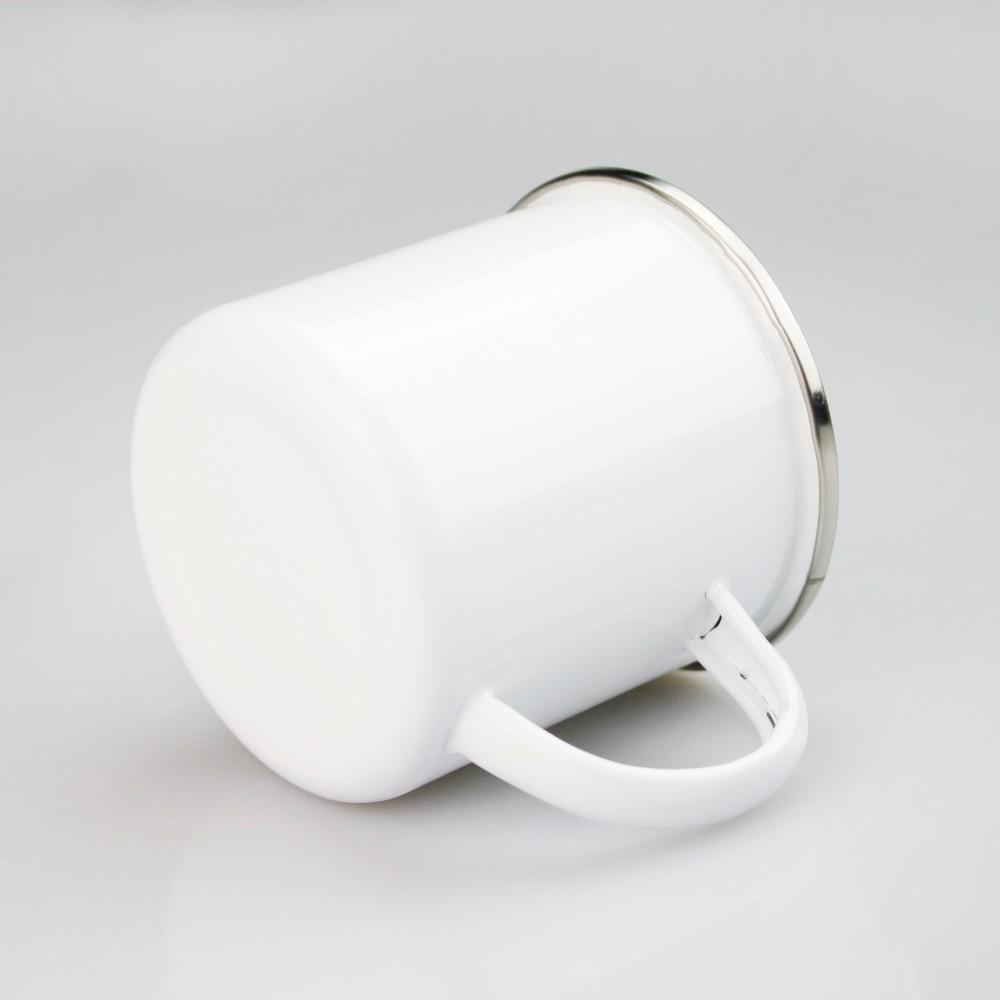Alibaba.com / White Custom Sublimation Blank Transfer DIY Enamel Metal Camping Mug