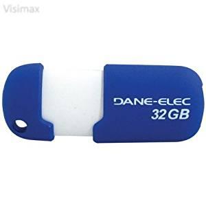 Visimax Upgrade DANE-ELEC DA-ZMP-32G-CA-A1-R Capless USB Pen Drive (32GB; Blue)