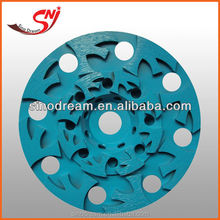 Resin cup edge diamond grinding wheel for beveling machine with turbo