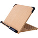 Portable adjustable foldable bamboo wood book reading stand
