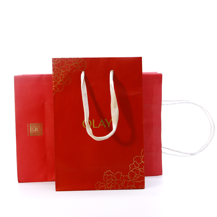 Cheap Wholesale Custom Brand Name Paper Bags With Your Own Logo