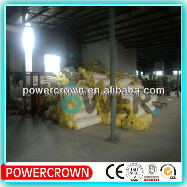 Super heat insulation fireproof fiber glass wool blanket used as construction material/ glass rock wool