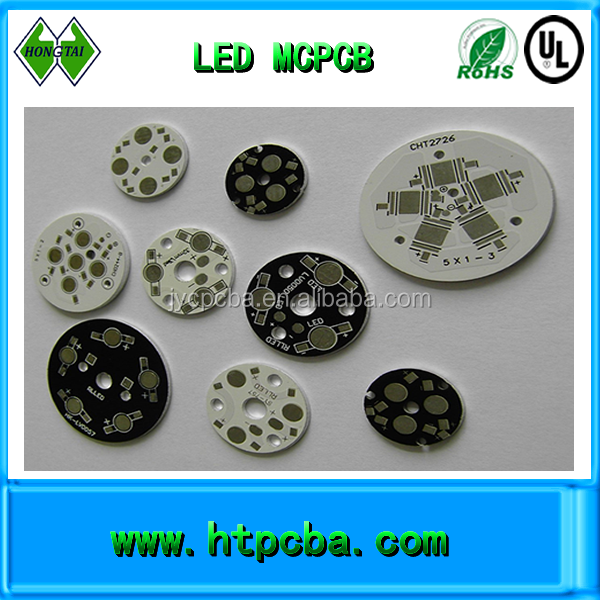 mcpcb board with LED,round aluminum based led pcb assembly