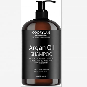 Natural mild best argan oil private label shampoo 500ml