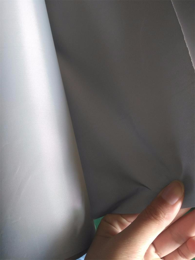 silver grey soft reflective nylon fabric for clothing