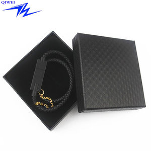 Zinc alloy shell leather bracelet usb cable for iphone charging bracelet