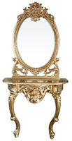 European style hair salon mirror station with gold color HB-B352-B1