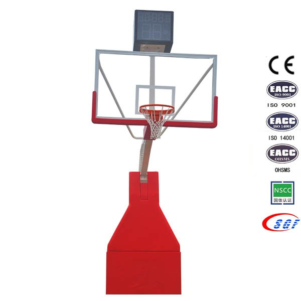 Tempered glass movable basketball stand,basketball systems with rims hoop