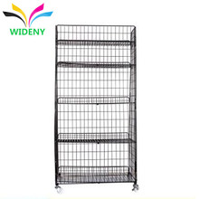 3 tier wrought iron metal wire bread candy snack cookies gum supermarket display shelf for retail storage