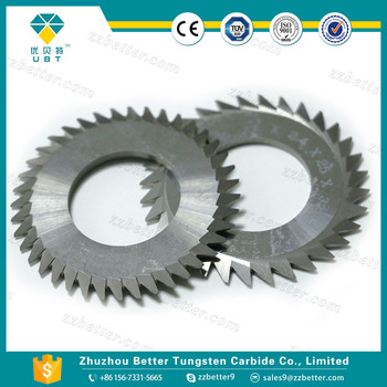 Tungsten carbide slitting cutters round knives