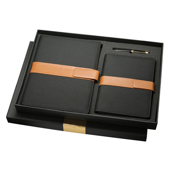 Promotional Gifts Office Stationary Set With Vip Diary And Metal Pen