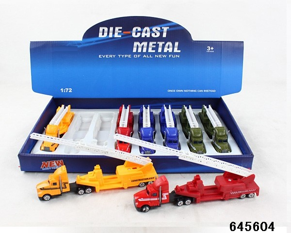 Mini free wheel alloy car toy die cast truck toy for wholesale