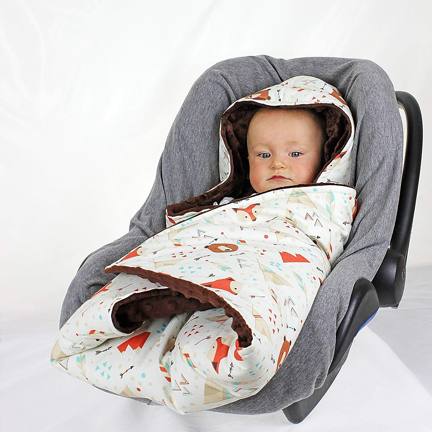 Get Quotations Southwest Animal Car Seat Wrap Blanket Hooded Swaddle Travel Custom Handmade