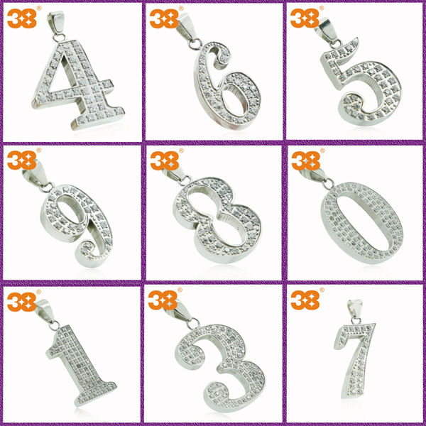 Our Lucky Number Cubic Stainless Steel Zircon Bio Energy Pendant
