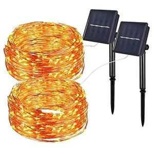 Outdoor Twinkle led solar string light Patio Pathway Landscape Garden Solar battery string decoration lights