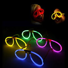 Colorful plastic party fluorescent glasses glow stick glasses