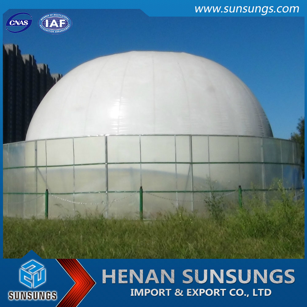 200m3 industrial gas storage balloon for biogas digester