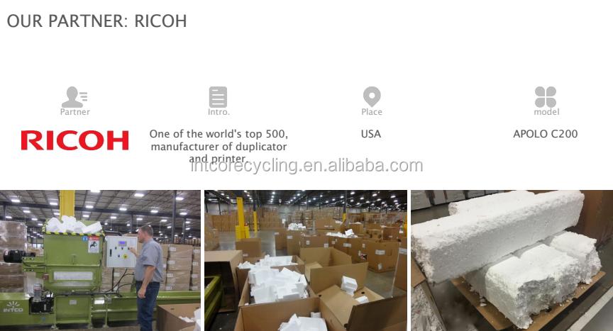 Macchina di riciclaggio di polistirene per mobili pacchetto di riciclaggio