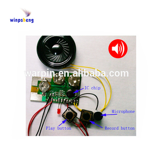 High quality recordable push button audio sound module for gift cards