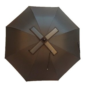 The new 30-inch super large umbrella with a straight rubber handle and a solar charger can be customized with the LOGO