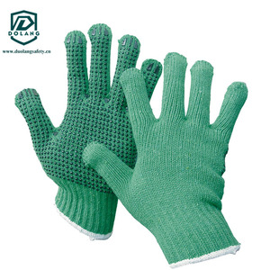 construction industry, sheet metal processing pvc dotted gloves hot sale