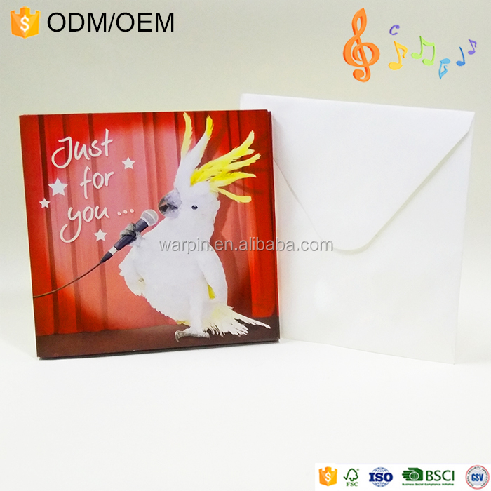 Custom Music Cards Musical Greeting Card With Sound Chip Happy Birthday Song