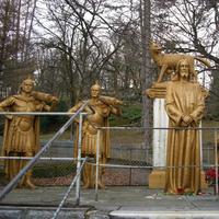 famous religious statues the first station Jesus is condemned to death