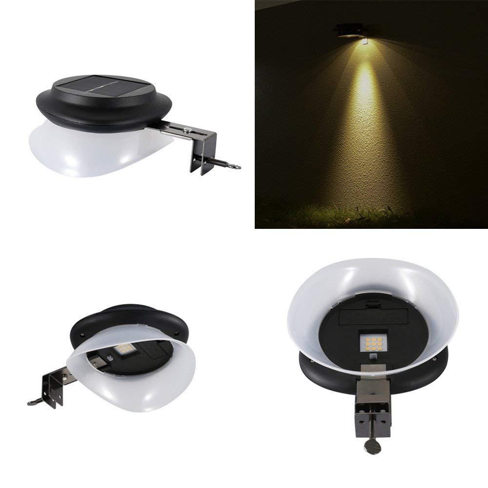 Businda Solar Light Outdoor, Security Lamp LED Light IP55 Waterproof Dark Sensing Landscape Lights for Lawn Pathway Yard