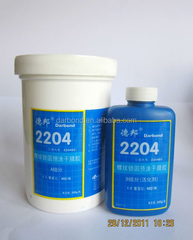 Pre-applied Thread locker Adhesive& Sealant for Phosphated and Electroplated Surfaces